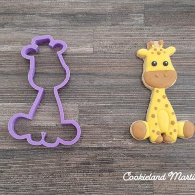 Emporte pièce contour girafe