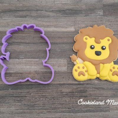 Emporte pièce contour lion
