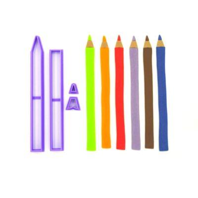 Emporte pièce en kit crayon de couleur