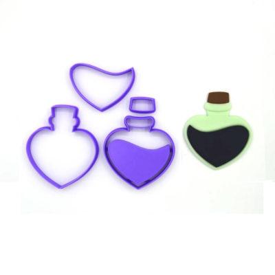 Emporte pièce en kit fiole coeur