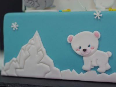 gâteau polaire ourson marche